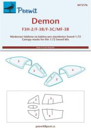PEEWIT 1/72 Canopy mask Demon F3H-2/F-3B,3C/MF-3B (SWORD)