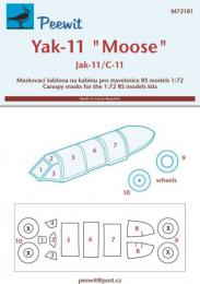 PEEWIT 1/72 Canopy mask Yak-11 Moose (RS)