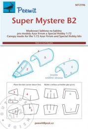 PEEWIT 1/72 Canopy mask Super Mystere B2 for SH