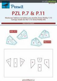 PEEWIT 1/72 Canopy mask M-1 Sokol for KP