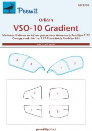 PEEWIT 1/72 Canopy mask VSO-10 Gradient for KP