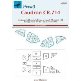 PEEWIT 1/72 Canopy mask Caudron CR.714 for RS