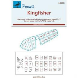 PEEWIT 1/72 Canopy mask Kingfisher for AZ