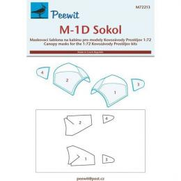 PEEWIT 1/72 Canopy mask M-1D Sokol for KP