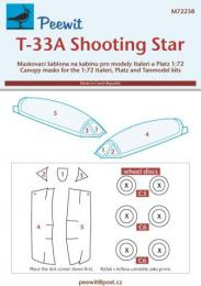 PEEWIT 1/72 Canopy mask T-33A Shooting Star for PLATZ
