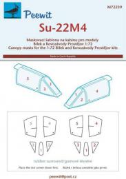 PEEWIT 1/72 Canopy mask Su-22M4 Fitter for KP