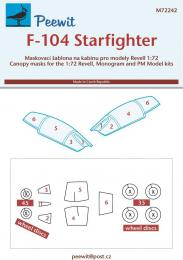 PEEWIT 1/72 Canopy mask F-104 Starfighter for REV