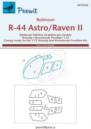 PEEWIT 1/72 Canopy mask Robinson R-44 Astro/Raven II for KP