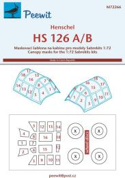 PEEWIT 1/72 Canopy mask Hs 126 A/B for SABRE