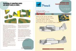 PEEWIT 1/72 Paper Camouflage mask Harvard for SH