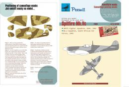 PEEWIT 1/72 Paper Camouflage mask Spitfire Mk.Vc for AIR