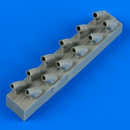 QUICKBOOST 1/32 P-40E Warhawk exhaust for HAS