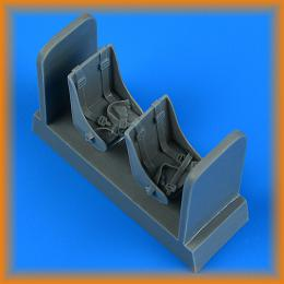 QUICKBOOST 1/48 Fokker G-1 seat with seatbelts for MIKROMIR