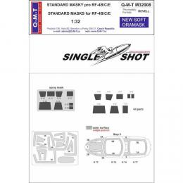Q-M-T 1/32 Single Shot Canopy Mask  RF-4B/C/E Phantom II for REV