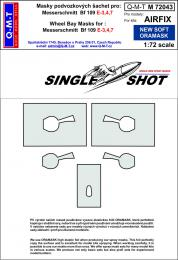 Q-M-T 1/72 Canopy Mask Bf 109E-3,4,7 for AIR