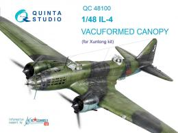 QUINTA 1/48 Vacu canopy for IL-4 for XUN