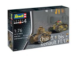 REVELL 1/76 Char B.1 Bis&Renault F