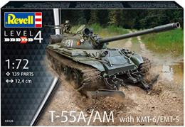 REVELL 1/72 T-55A /AM with KMT-6/EM