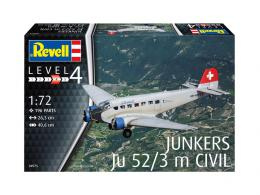 REVELL 1/72 Junkers Ju-52/3m Civil Airlines
