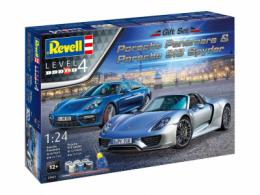 REVELL 1/24 Porsche Panamera and 918 Spyder Model Kit Gift Set