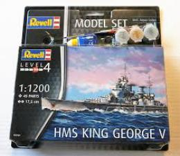 REVELL 1/1200 Model Set HMS King George V