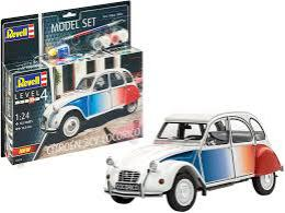 REVELL 1/24 Model Set Citroen 2 CV Cocorico