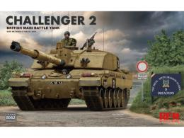 RYE FIELD 1/35 Challenger 2 British Main Battle Tank with workable track links
