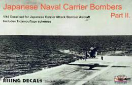 RISING DECALS 1/48 Japanese Naval Carrier Bombers (8x camo) Pt.II