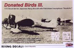 RISING DECALS 1/72 Donated Birds III. Houkoku (6x camo)