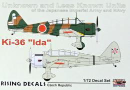 RISING DECALS 1/72 Decal Ki-36 Ida
