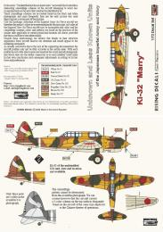 RISING DECALS 1/72 Ki-32 Mary Unknown and Less Known Units