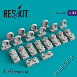 RESKIT 1/144 Tu-22 wheels set for MIKROMIR
