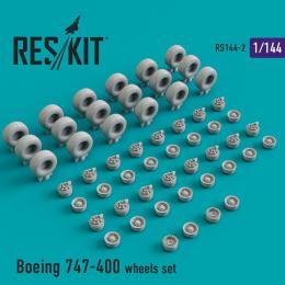 RESKIT 1/144 Boeing 747-400 wheels for DRAG/HAS/REV