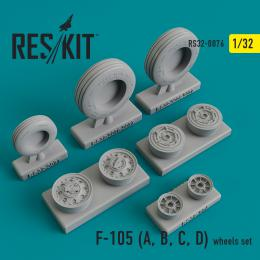 RESKIT 1/32 F-105 for A, B, C, D  wheels for TRU/HAS