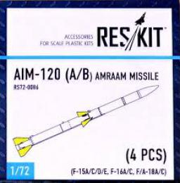 RESKIT 1/72 AIM-120 for A/B  AMRAAM Missile for 4 pcs.