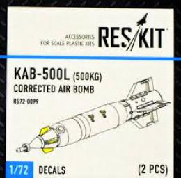 RESKIT 1/72 KAB-500L for 500kg  Corrected Air Bomb for 2 pcs.