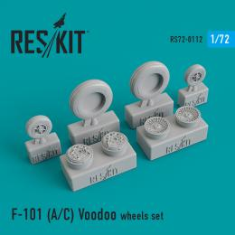 RESKIT 1/72 F-101 for AC  Voodoo wheels set for HAS,VALOM