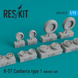 RESKIT 1/72 B-57 Canberra type 1 wheels set for ITAL