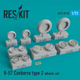 RESKIT 1/72 B-57 Canberra type 2 wheels set for ITAL
