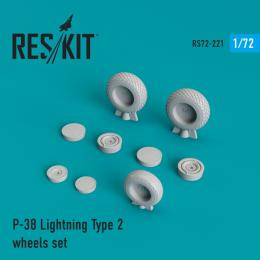 1/72 P-38 Lightning Type 2 - wheels for ACA/AIR