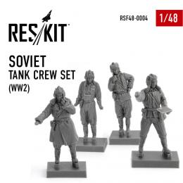 RESKIT 1/48 Soviet Tank Crew Set WWII for 4 fig.
