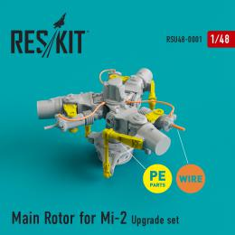 RESKIT 1/48 Mi-2 Main Rotor upgrade set for incl.PE parts