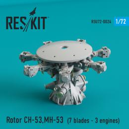 RESKIT 1/72 Rotor CH-53, MH-53E - 7 blades,3 engines