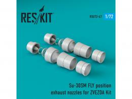 RESKIT 1/72 Su-30SM Flanker fly position exhaust nozzles for ZVE