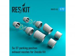 RESKIT 1/72 Su-57 parking position exhaust nozzles for ZVE