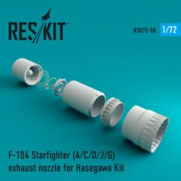 RESKIT 1/72 F-104 Starfighter A/C/D/J/G Exhaust nozzle for HAS