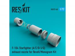 RESKIT 1/72 F-104 Starfighter A/C/D/J/G Exhaust nozzle for REV