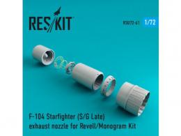 RESKIT 1/72 F-104 Starfighter (S/G Late) Exhaust nozzle for REV - zvìtšit obrázek
