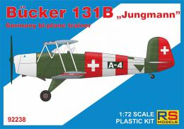 RS MODEL 1/72 Bücker 131B German bi-plane trainer