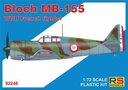 RS MODEL 1/72 Bloch MB-155 French WWII fighter
